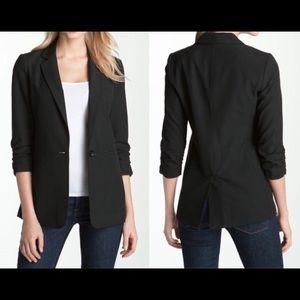 Michael Kors Ruched Sleeve  Black Blazer Sz 14